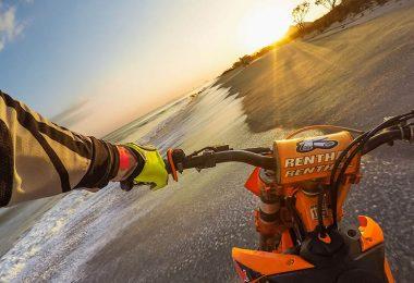 caméra embarquée sur motocross avec harnais torse