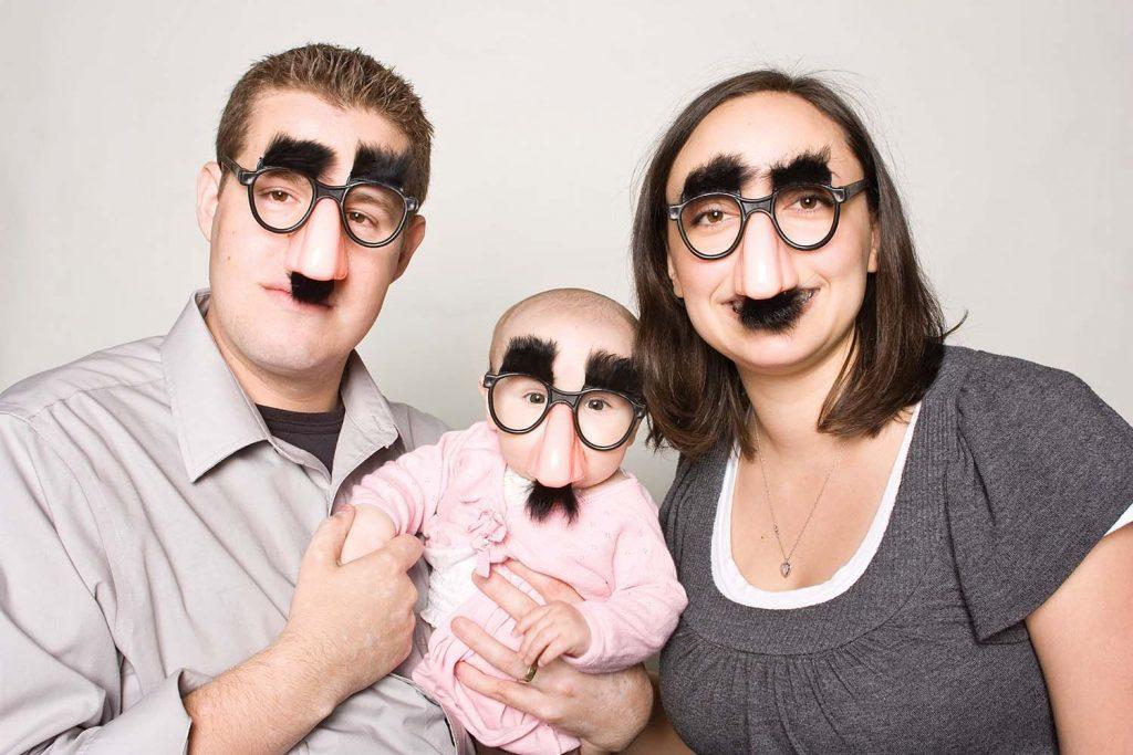 photo originale avec un bébé
